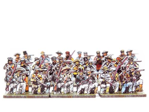 28mm Texian skirmishers