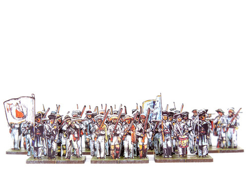 18mm Texian Volunteers and Tejanos