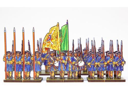 18mm Dutch Guard infantry (blue uniforms)