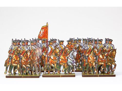 28mm Dutch cavalry (red cuffs)