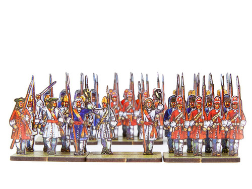 18mm Dutch Grenadiers (red, white and blue uniforms)