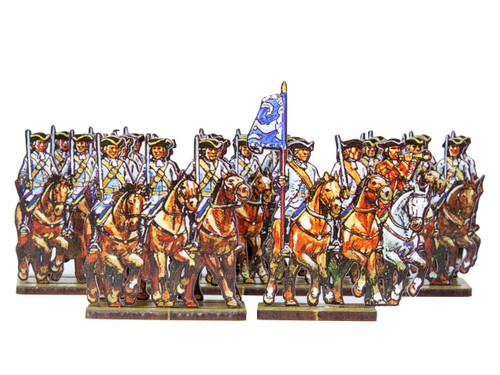18mm Dutch cavalry (blue cuffs) and Prussian Line cavalry