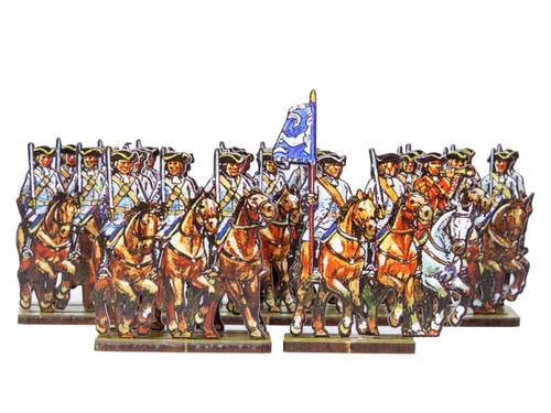 28mm Dutch cavalry (blue cuffs) and Prussian Line cavalry