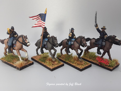 28mm US Cavalry Command, summer