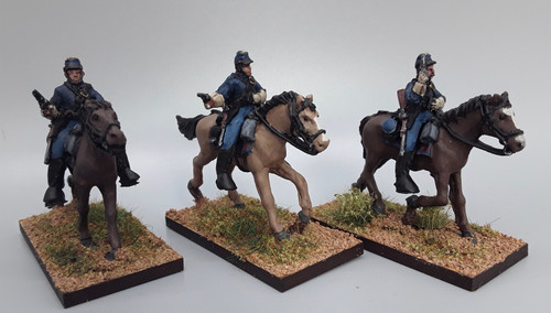 28mm US Cavalry with pistols, summer