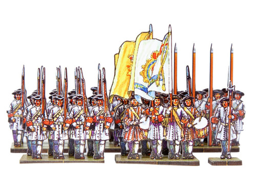 18mm Dutch Line infantry (white uniforms)