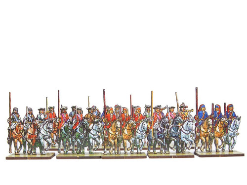 28mm British and French Cavalry Flag Bearers v.1