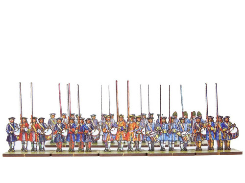 18mm British/Dutch Infantry Flag Bearers v.1