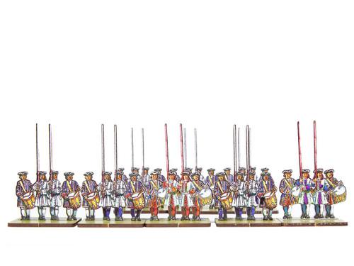 18mm French and Bavarian  Infantry Flag Bearers v.2
