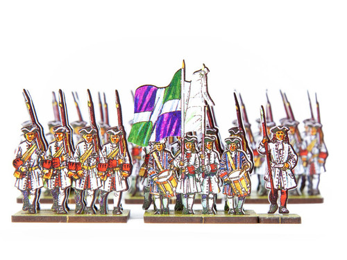 18mm French Line Infantry Lorraine (white facings & red cuffs)