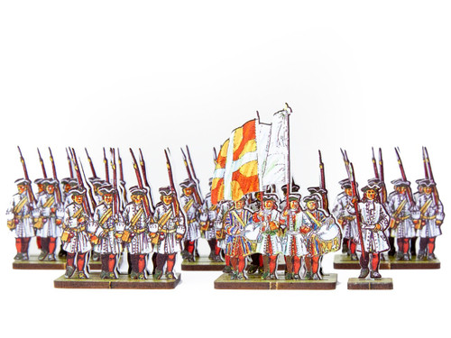 18mm French Line Infantry des Landes (white facings & red stockings)