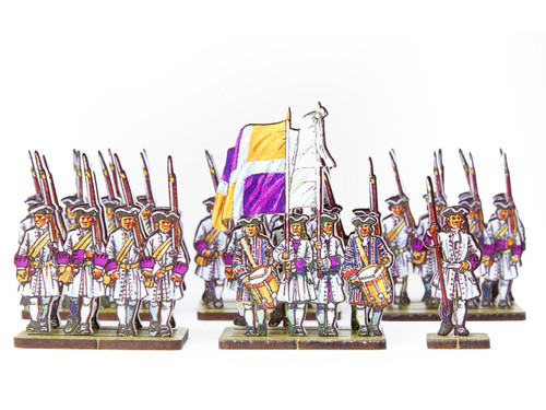 18mm French Line Infantry Flandre (white facings & purple cuffs)