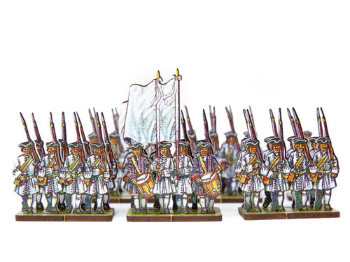 18mm French Line Infantry(white facings)
