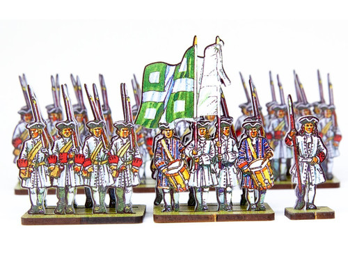 18mm French Line Infantry Saillant (red cuffs)