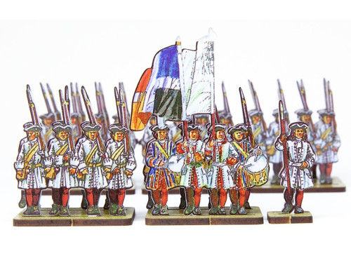 28mm French Line Infantry Bourbon (red stockings)