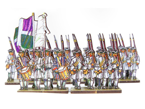 18mm French Line Infantry Auvergne (white facings and cuff)