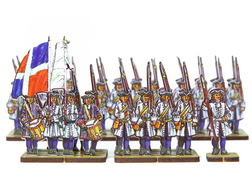 18mm French Line Infantry Poitou (blue facings and stockings)