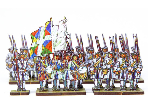 18mm French Line Infantry Saintonge (blue facings)