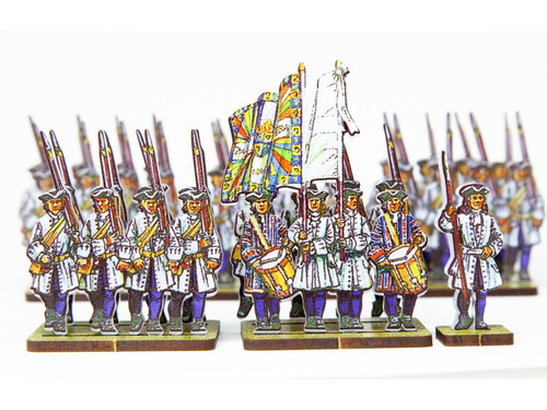 18mm French Line Infantry Dauphin (blue stockings and cuffs)