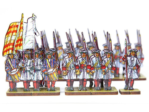 18mm French Line Infantry Bearn (red stockings and cuffs)