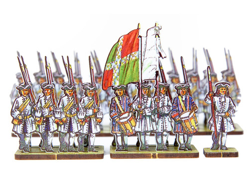18mm French Line Infantry Le Roi (blue facing and  white cuffs)