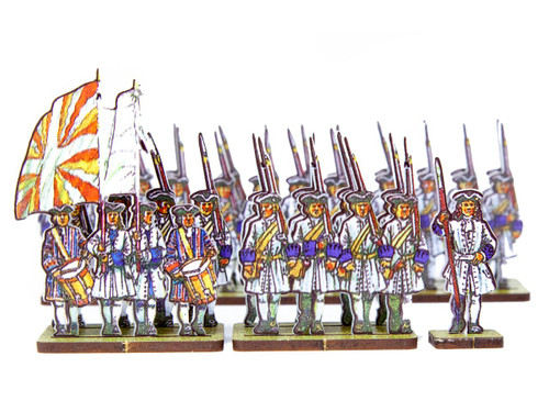 18mm French Line Infantry Brendle ( blue cuffs)