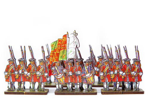 18mm French Line Infantry O'Donnel (Irish - red uniforms)