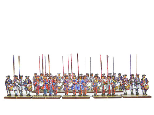 18mm French and Bavarian  Infantry Flag Bearers v.1