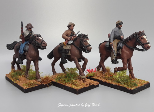28mm  Confederate cavalry with carbines, summer