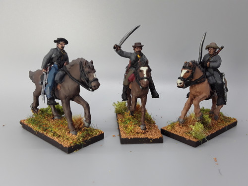 28mm Confederate cavalry with sabers, summer