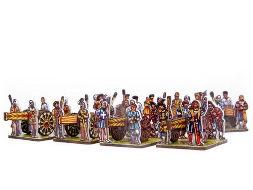 28mm Renaissance Artillery Crews and Guns