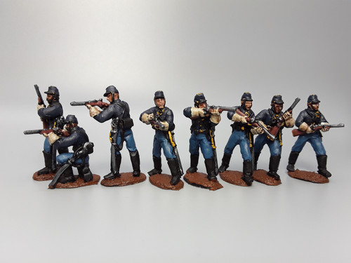 US dismounted cavalry, skirmishing, summer