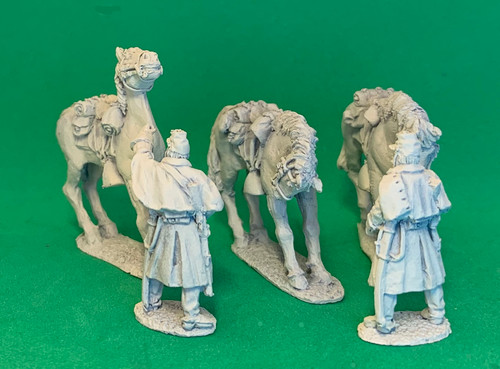 28mm US dismounted horse holders, winter