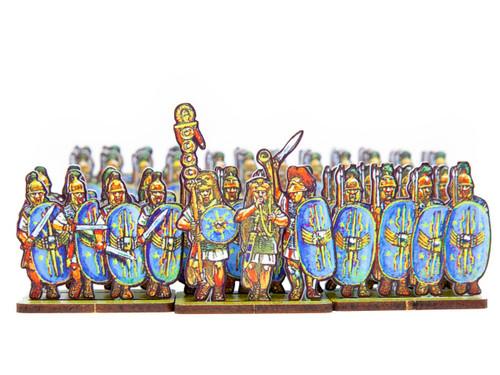 18mm Caesar's Infantry, blue wing shields