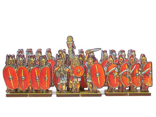 18mm Caesar's Infantry, red shields