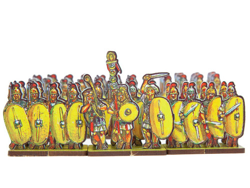 18mm Caesar's Infantry, yellow shields