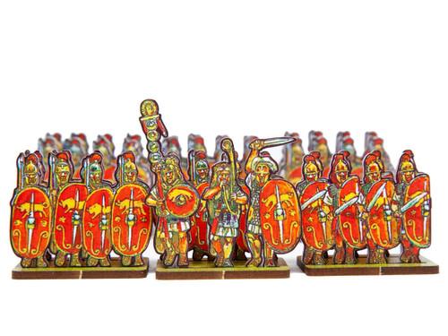 18mm Caesar's Infantry, red bull shields