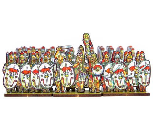 18mm Caesar's Infantry, white bull shields
