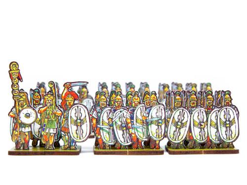 18mm Caesar's Infantry, white winged shields