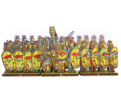 18mm Caesar's Infantry, yellow shields, red bull