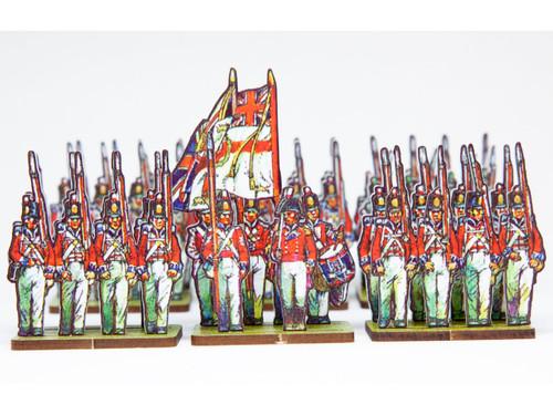 28mm British Centre Infantry, blue facings