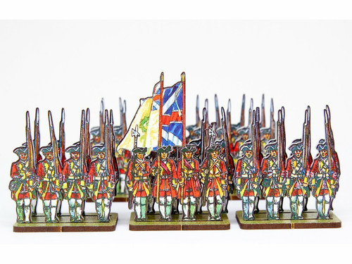 18mm British Army Infantry Yellow and White Facings Regiments