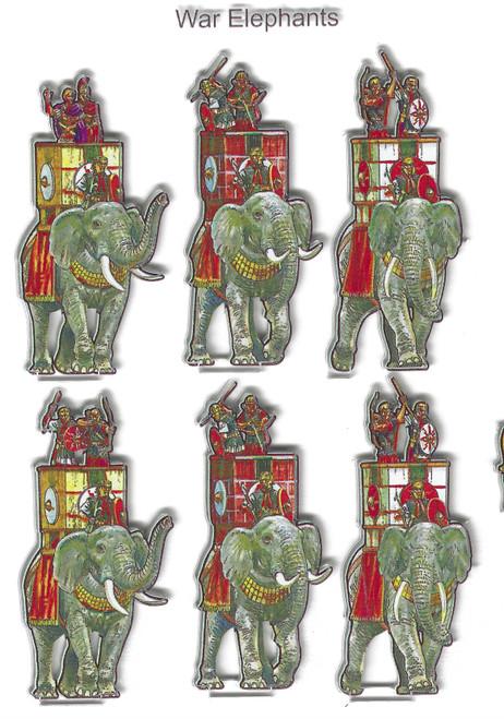 18mm Roman War Elephants - small unit