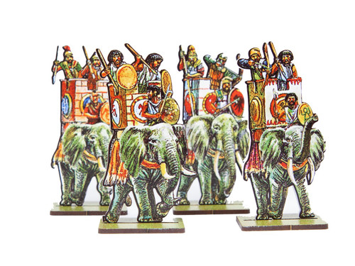 28mm Carthaginian African Elephants (front)