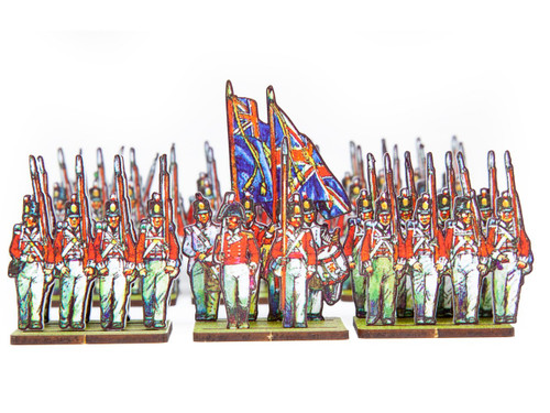 18mm British Infantry Centre Companies, White Facings.