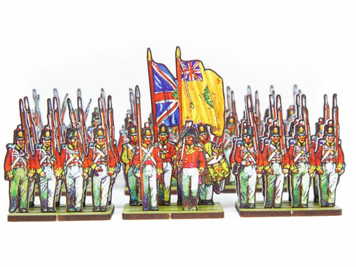 28mm British Infantry Centre Companies, Yellow Facings.