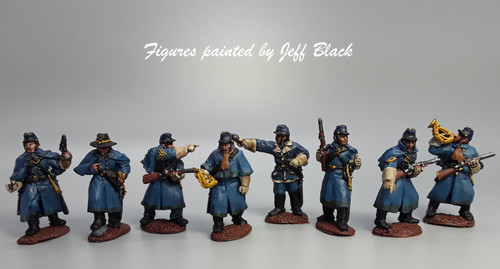 28mm US dismounted cavalry command, greatcoats