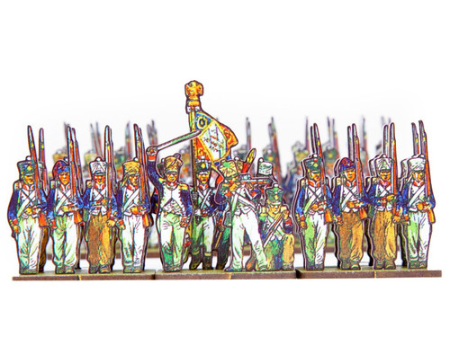 18mm French infantry, center companies line and light infantry