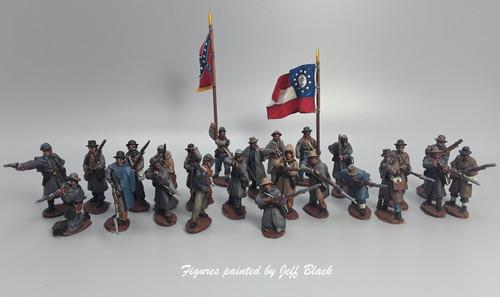 CS Infantry Regiment, winter clothing, firing
