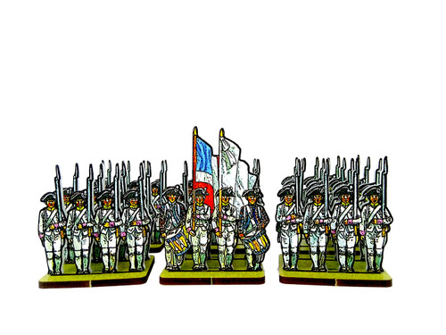 28mm French Line Infantry Pink Facings